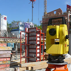 Leica Builder Total Stations - Leica Builder Total Station being used.