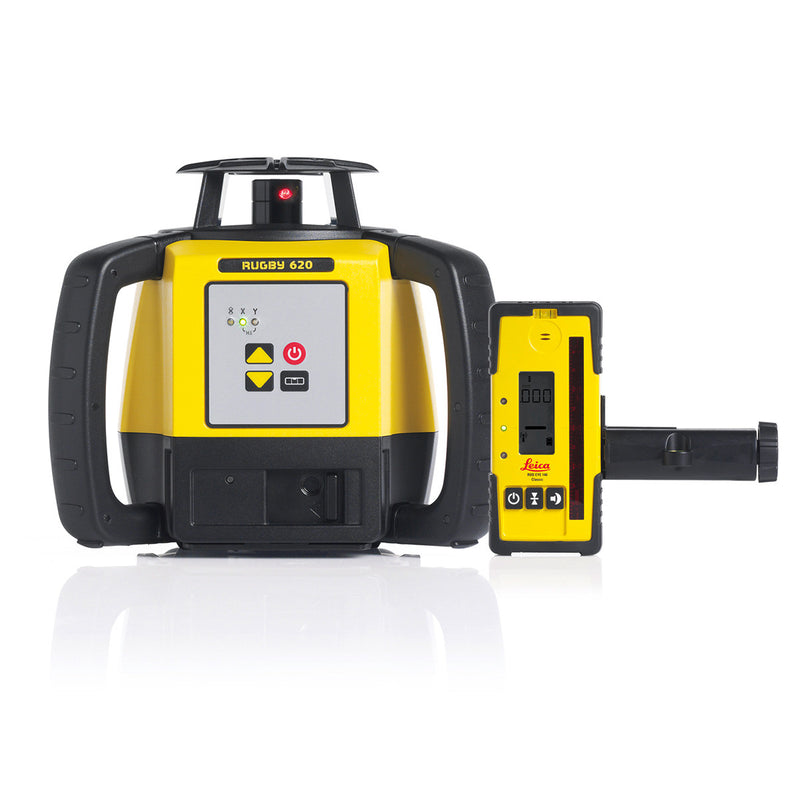 Leica Rugby 620 Laser Level with Rod EYe 140