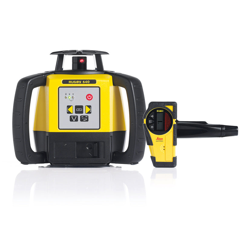 Leica Rugby 640 Laser Level with Basic Rod Eye Receiver