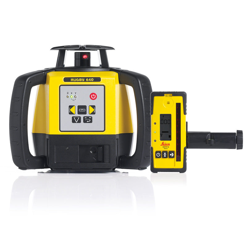 Leica Rugby 620 Laser Level with Rod Eye 140 receiver