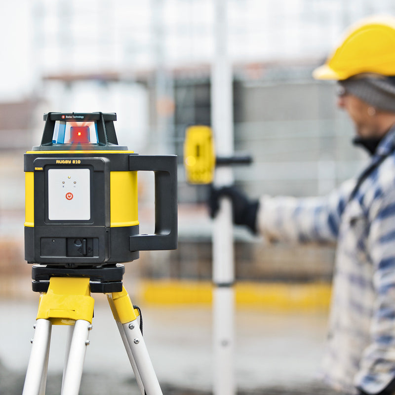 Leica Rugby 810 Laser Level being used on a construction site
