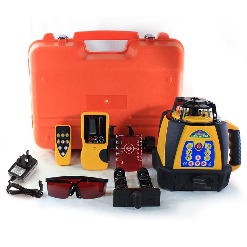 GPR-G95 Green Beam Rotary Laser Level - Full Kit