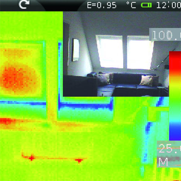 View through the LaserLiner ThermoCamera-Vision