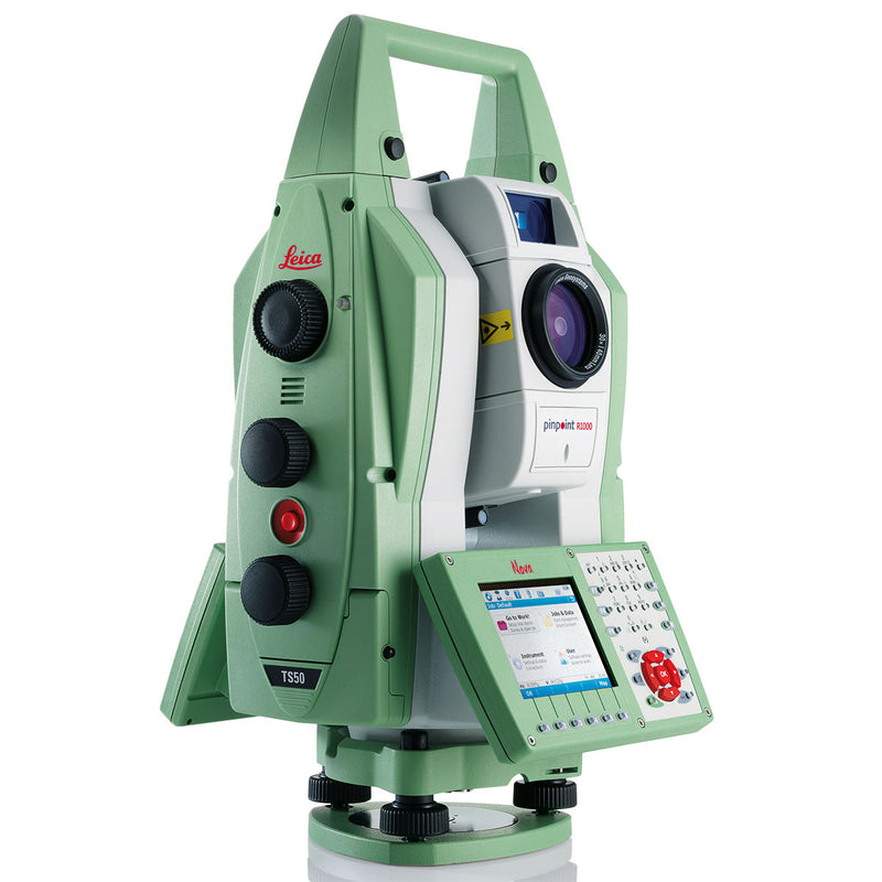 Leica Nova TS50 Total Station from the side