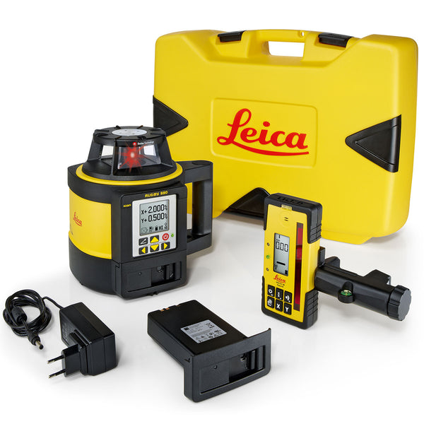 Leica Rugby 880 Dual Grade Laser Level One Point Survey