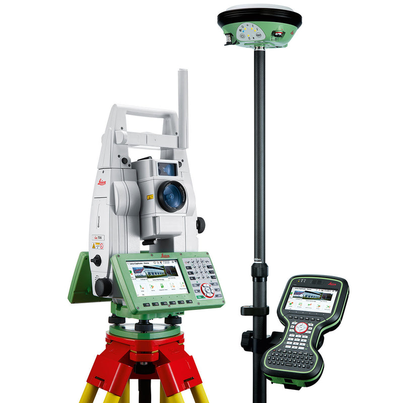 Leica Viva TS16 Total Station with full support kit