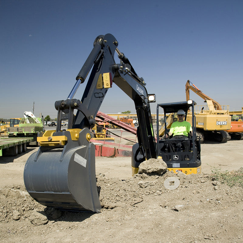 TopCon LS-B10 and LS-B10W Laser Receiver being used on site