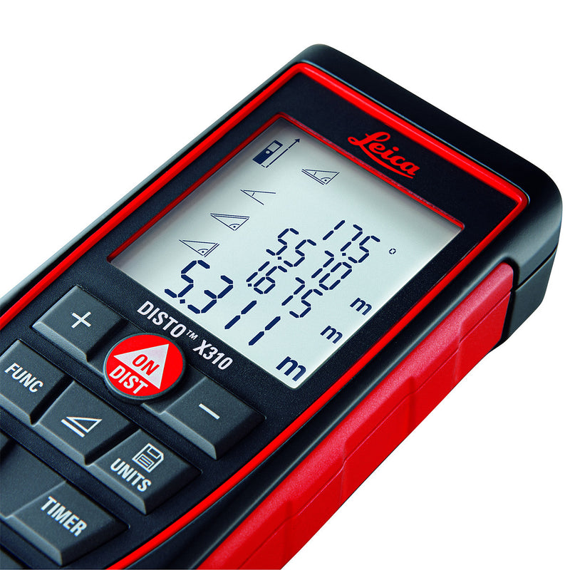 Leica DISTO™ X310 Laser Distance Meter display screen