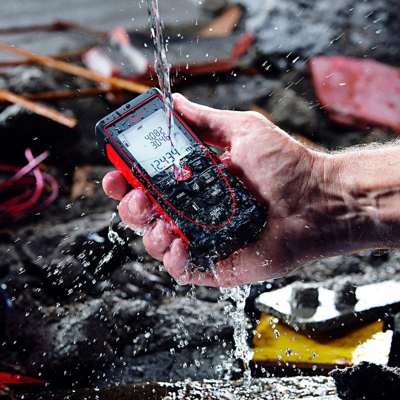 Leica DISTO™ X310 Laser Distance Meter resists water, dust and drops from 2 metres