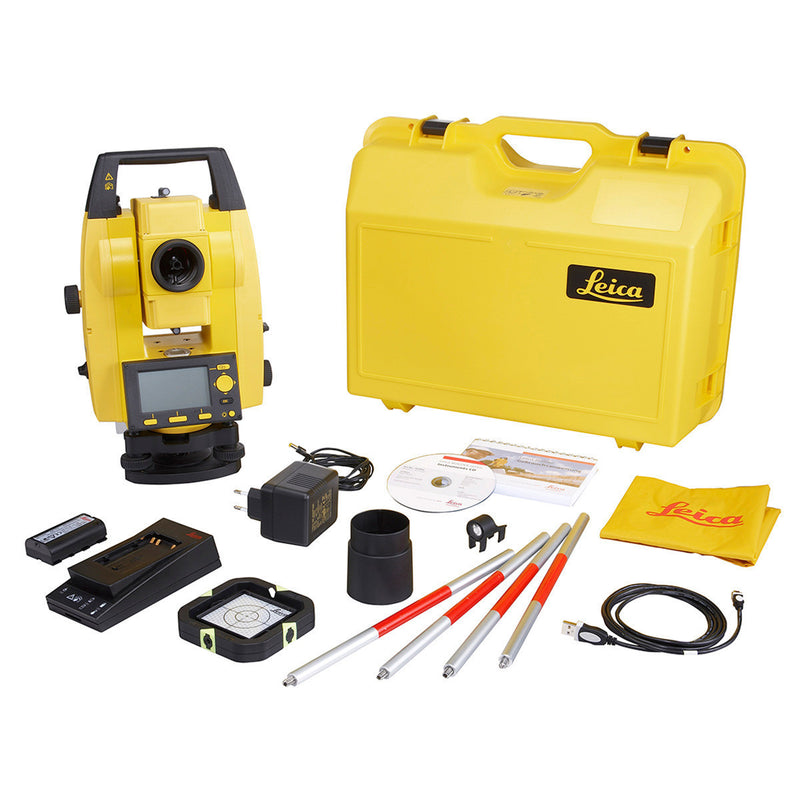 The full box contents of the Leica Builder 400 Theodolite