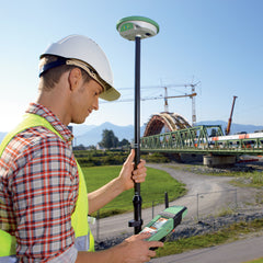 Survey Equipment - GPS / GNSS Survey Equipment being used on a construction site.