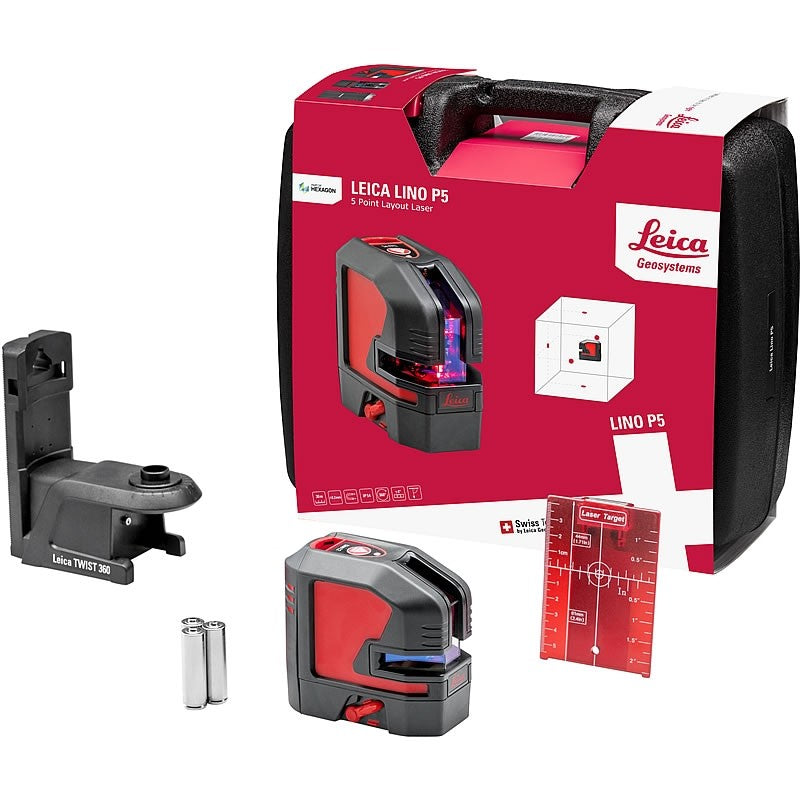 Leica Lino P5 Point Laser full kit