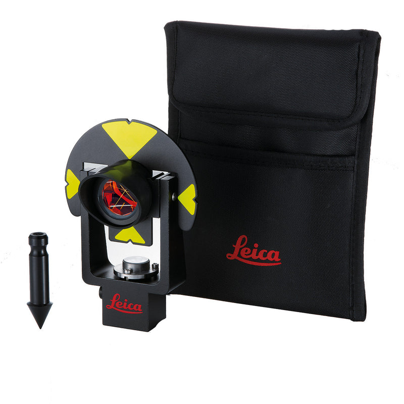 Leica GMP101 Mini Prism with spike and padded bag