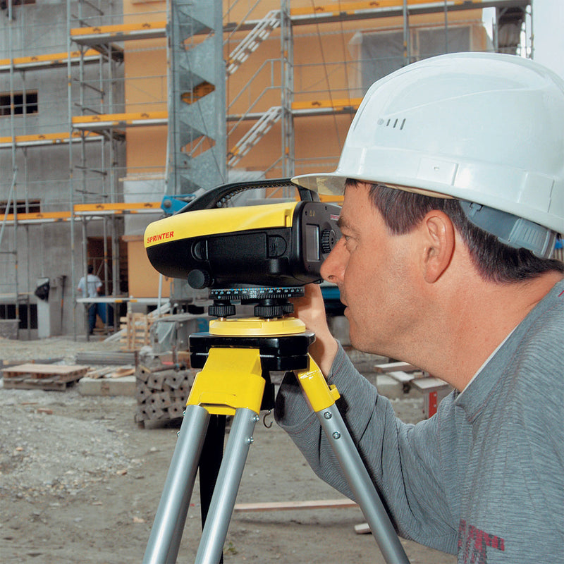 Leica Sprinter 250M Digital Level being used on a construction site