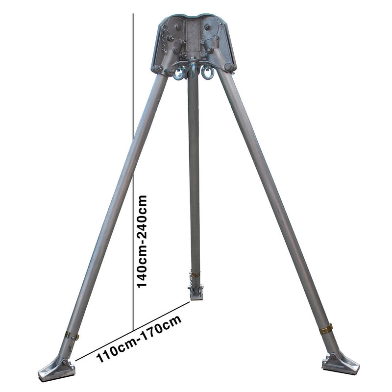 T03 - Two Person Rescue Tripod with height and width measurements
