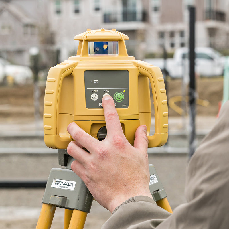 Topcon RL-H5B Rotating Laser Level being used on site