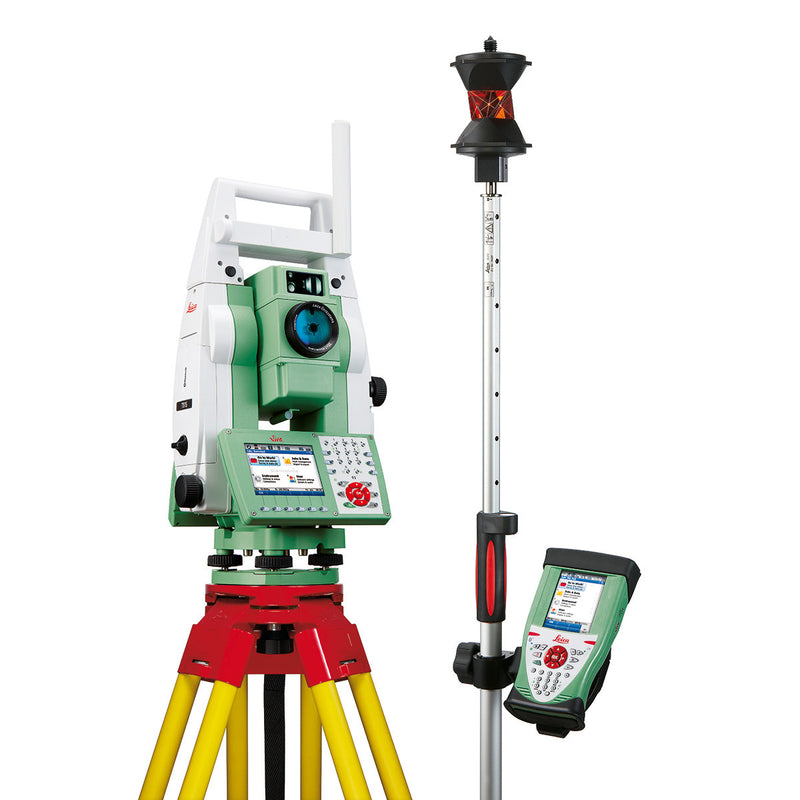 Leica Viva TS11 Total Station with controller and other equipment