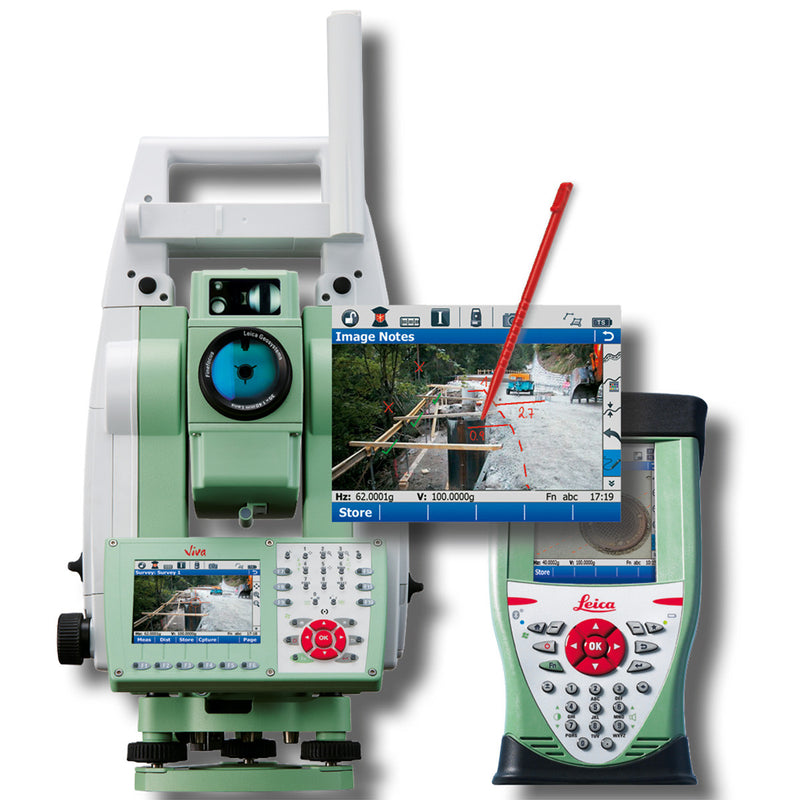 Leica Viva TS15 Total Station with controller and software
