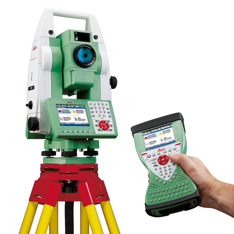 Leica Viva TS15 Total Station with controller and tripod