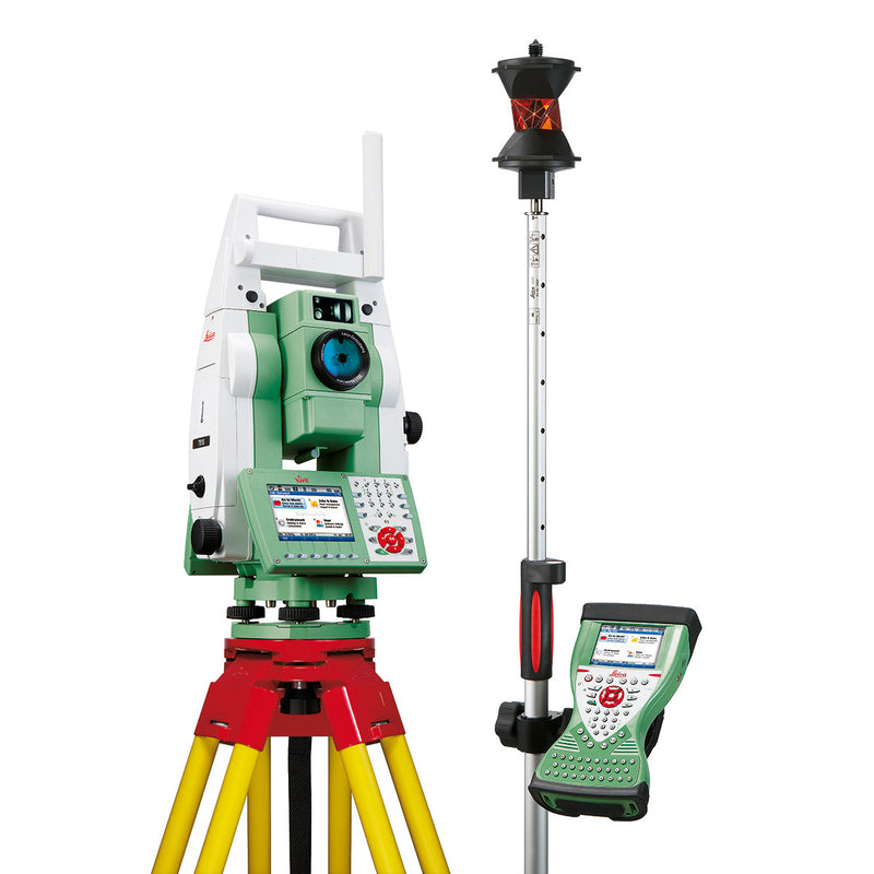 Leica Viva TS15 Total Station with controller and other equipment