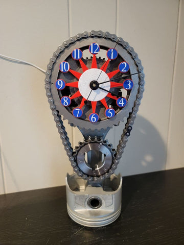 Red White and blue, 4th of July Clock, Car Clock