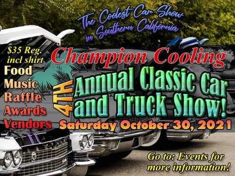 Champion Cooling Systems 4th Annual Car Show