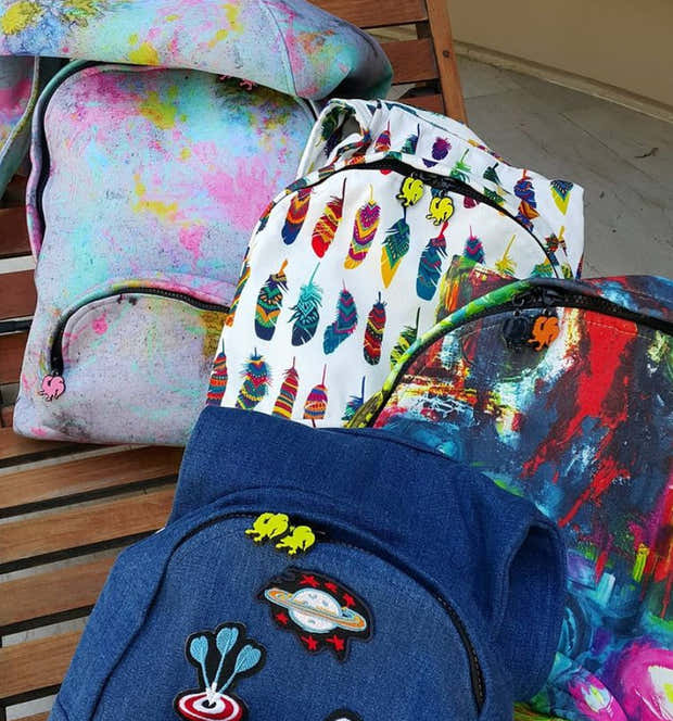 Print Basic - Hooded Backpack - Water-repellent 1