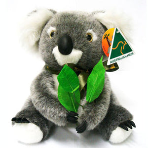 "9"" Australian Made Koala with Gumleaf"