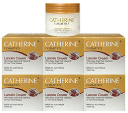 Catherine Lanolin Cream with Grape Seed Oil - 6x100ml