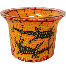 Small Candle Holder Goanna