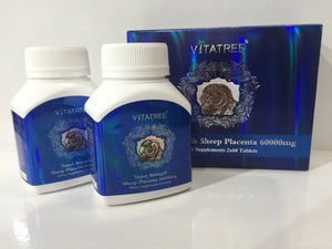 Vitatree Sheep Placenta 60000mg (2 x 60 Caps) EXP.9/2022