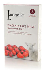 Lanocreme Placenta Q10 Face Mask - 5 Pack