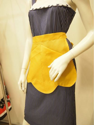 Curvy Sunshine Vintage Apron In Yellow