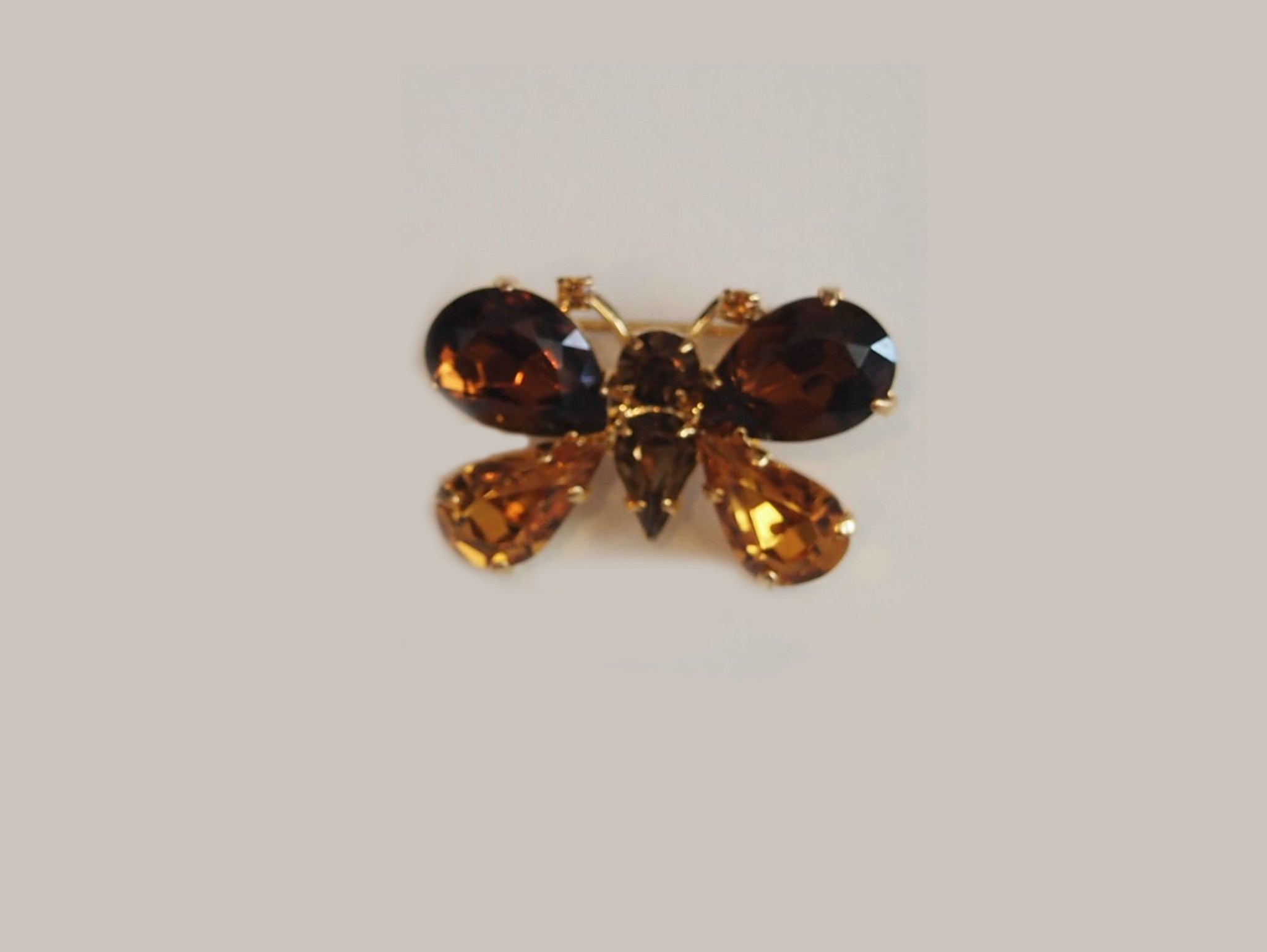 Champagne Flight Vintage Butterfly Brooch