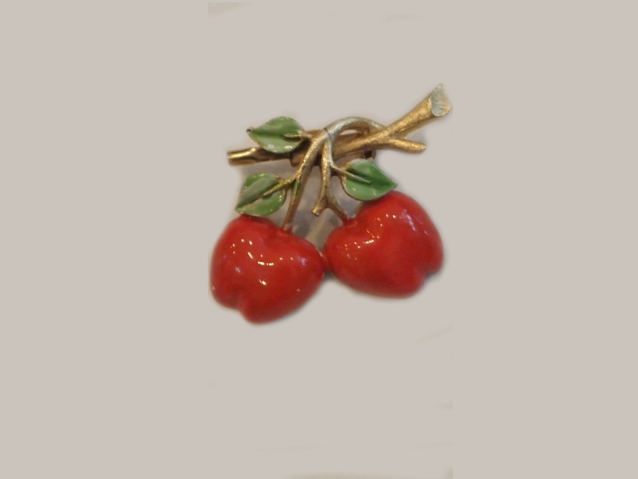Cherry Picking Vintage Brooch