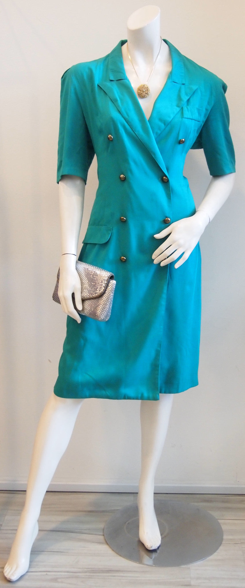 Joining The Troops Green Military Trench Dress