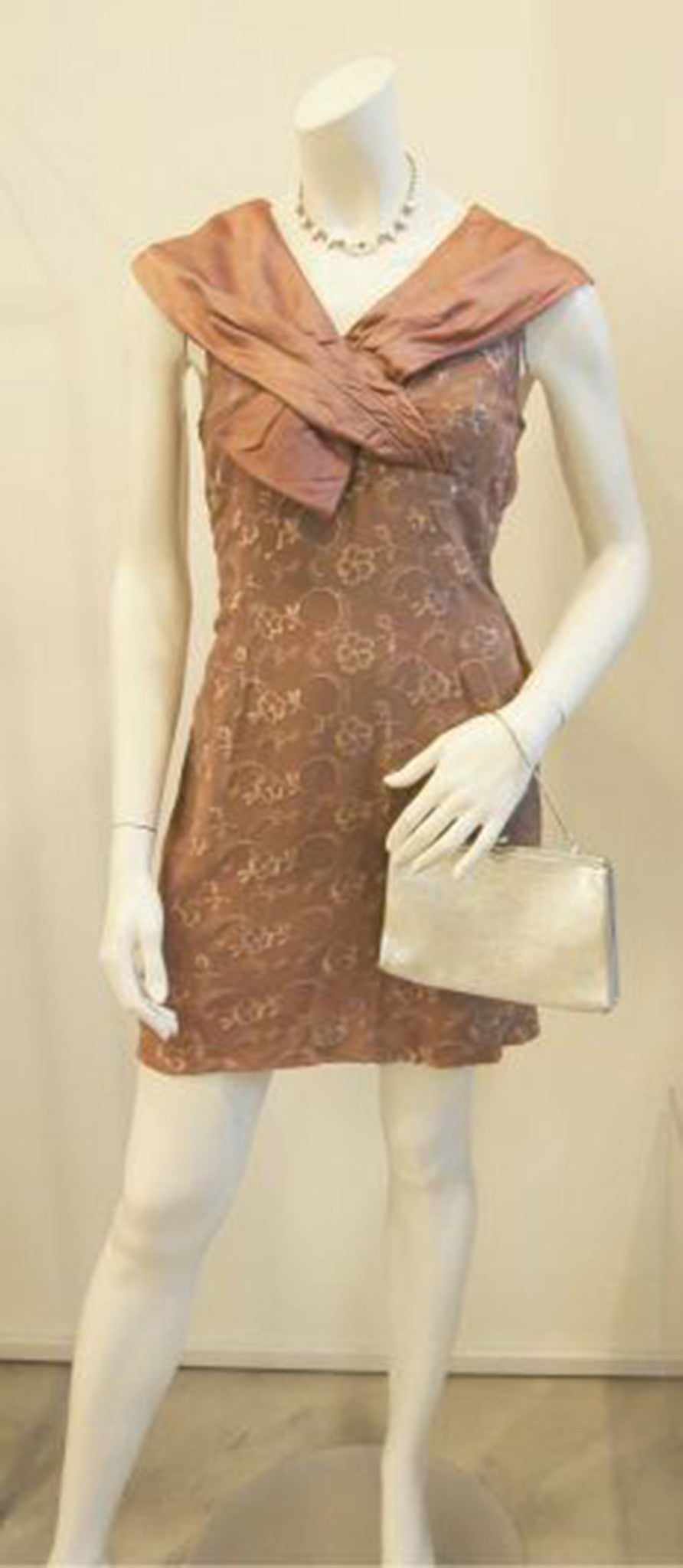 Mocha Cravings Vintage Lace Dress in Brown