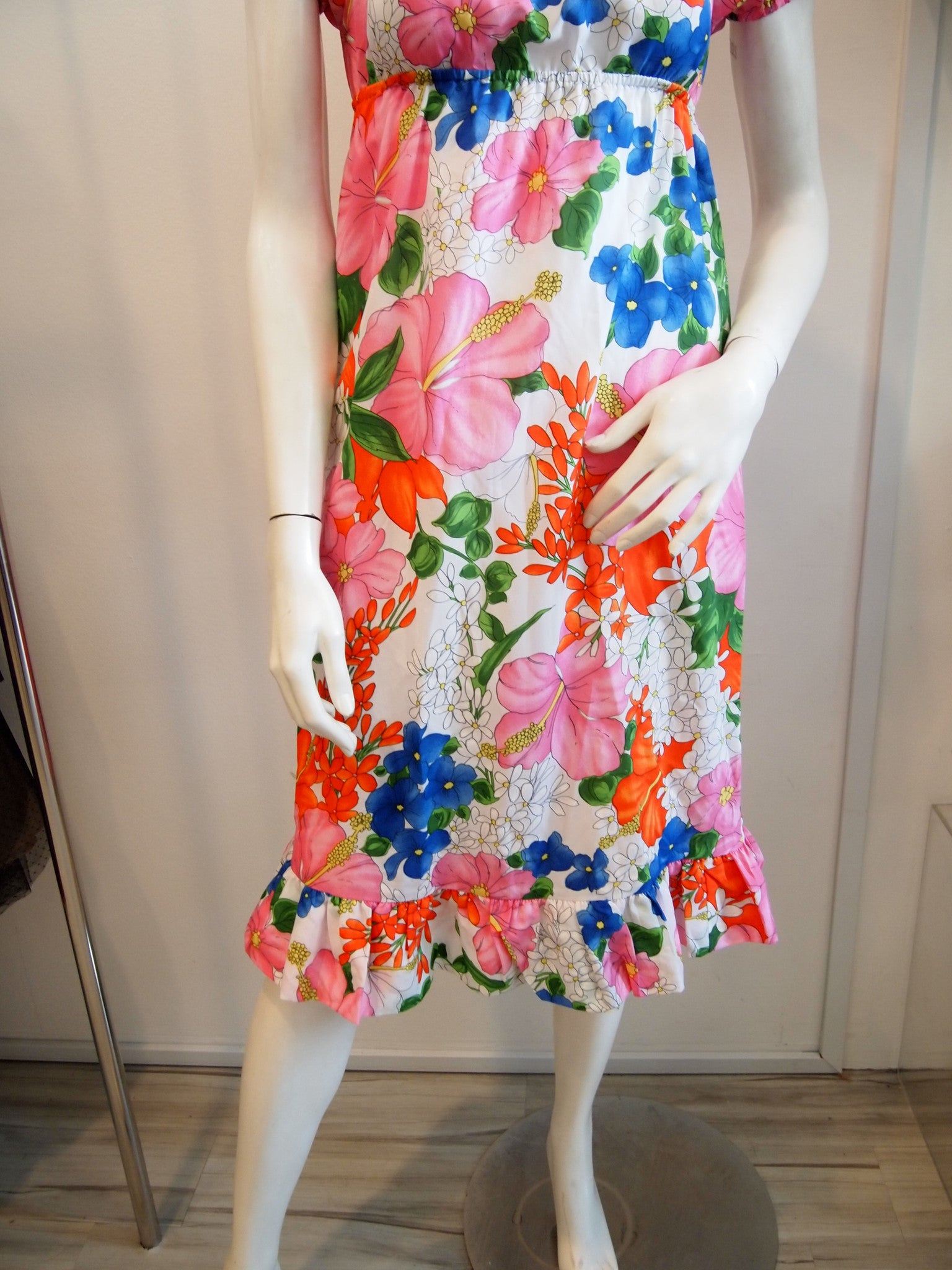 Summer of 69 Red Pink Floral Dress