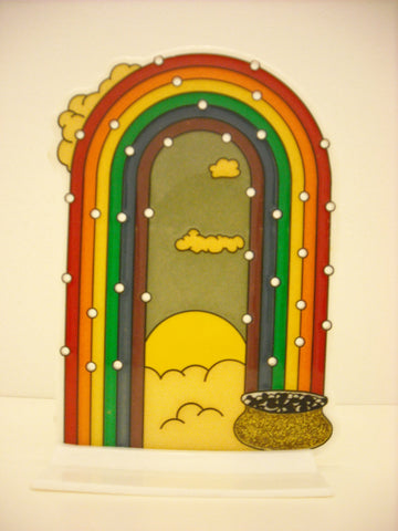 Pot At End Of Rainbow Vintage Earrings Stand