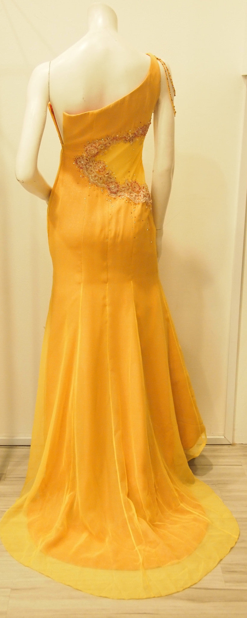 Scarlett O'hara Golden Vintage Evening Dress