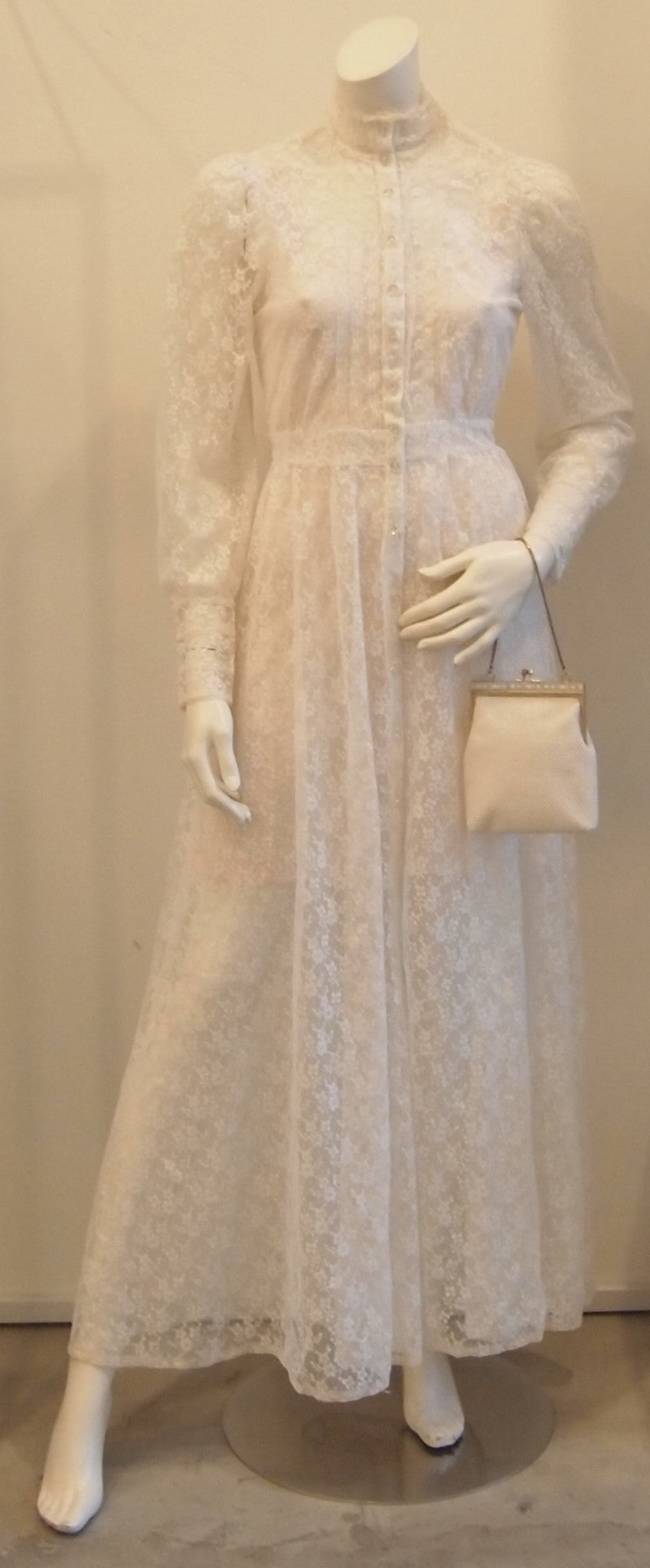 IVORY FULL LACE EVENT DRESS