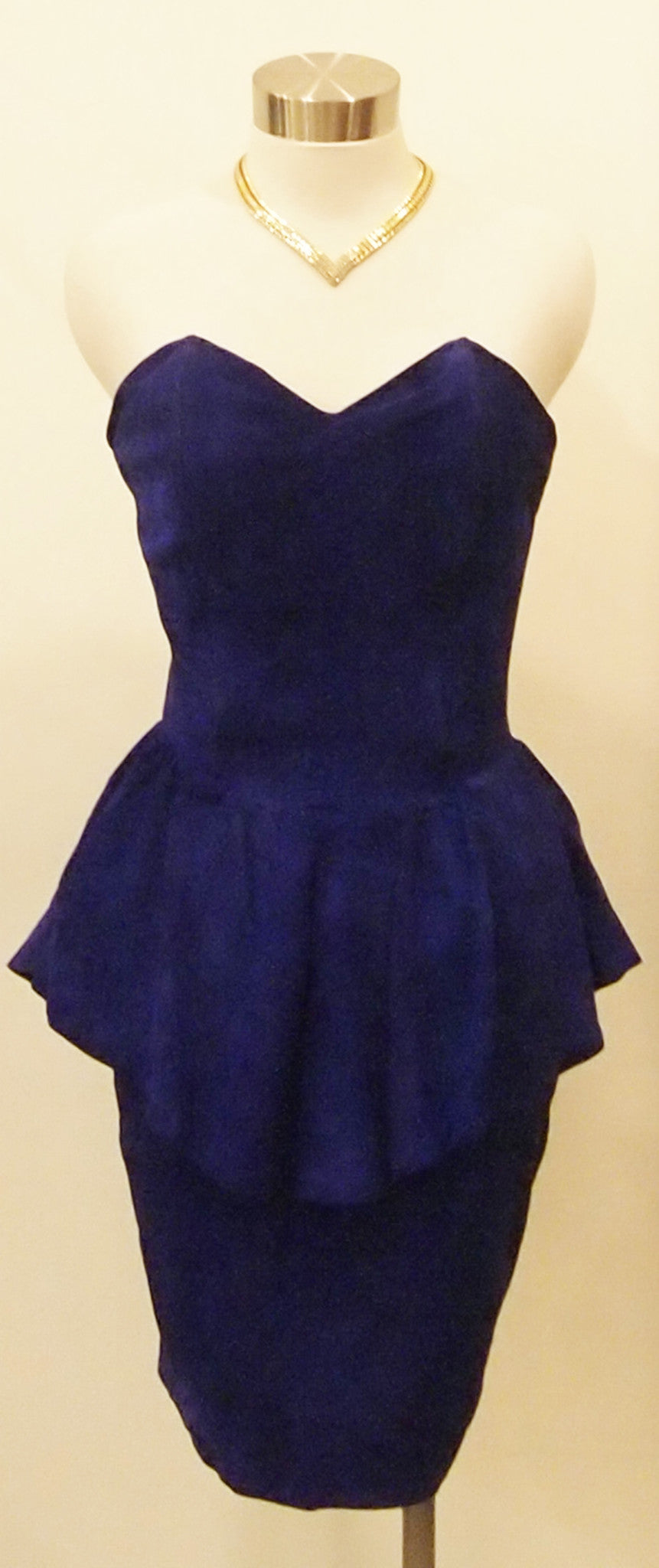 HAUTE VIOLET ULTRSUEDE BUSTIER DRESS