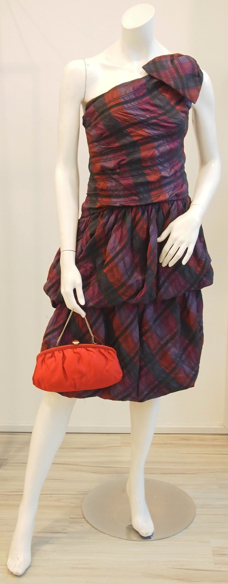 Tartan Toga Princess Vintage Dress