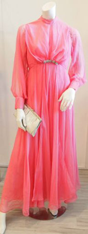 The Perfect Hostess Wears Pink Vintage Maxi Dress