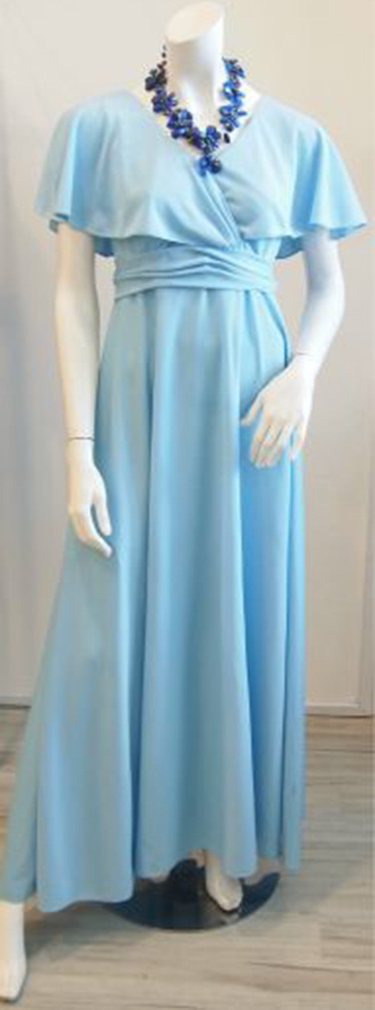 Nothing But Blue Skies Vintage Maxi Dress