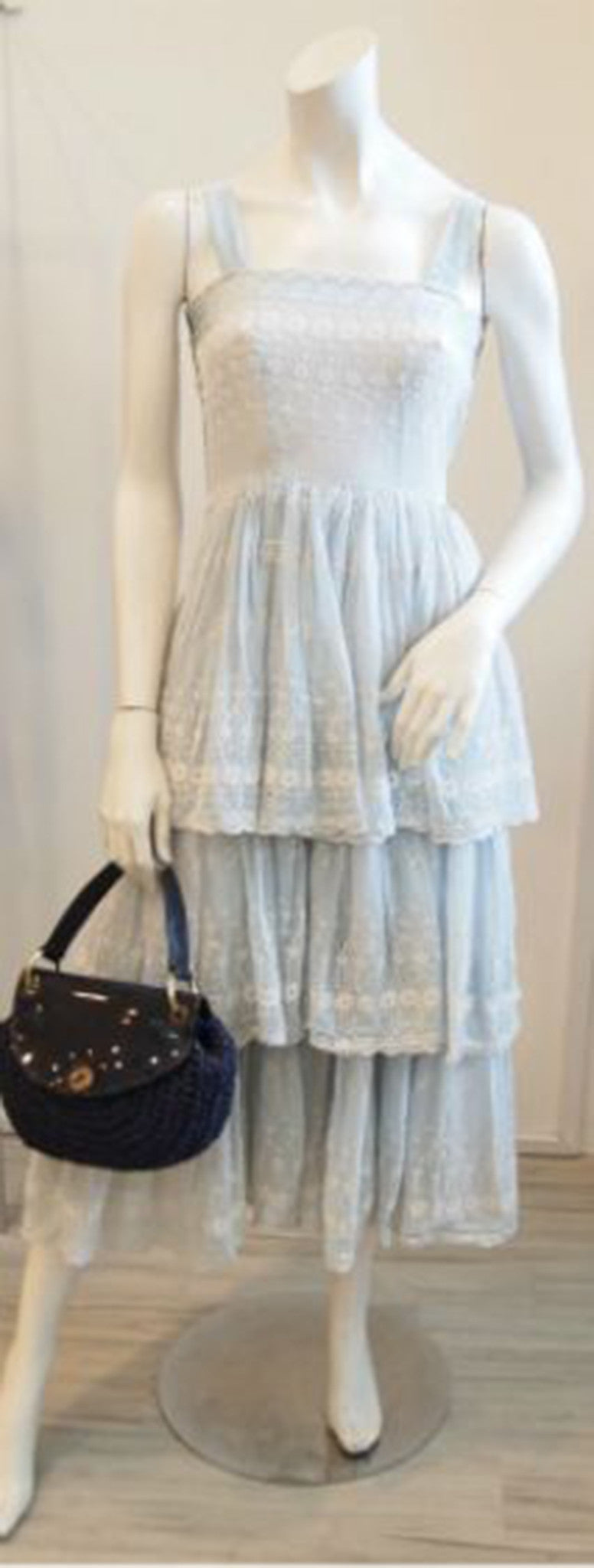 The Sky is Blue Broderie Anglaise Lace Dress