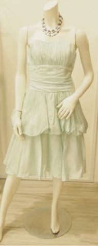 Minty Goodness Vintage Bustier Dress with Two-Tier Skirt