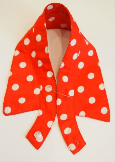 Red Polka Dot Handmade Collar