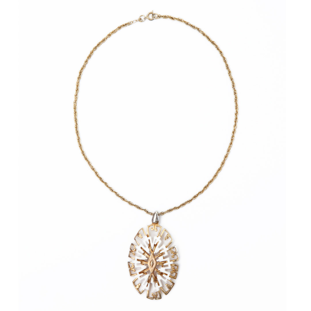 IMMACULATE ELEGANCE VINTAGE PENDANT NECKLACE