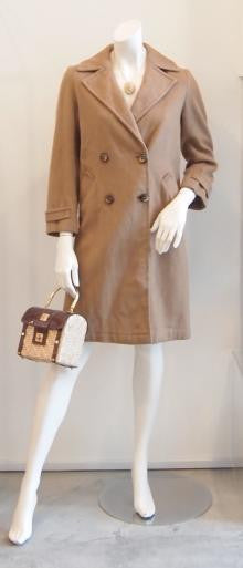 CLASSIC CAMEL WOOL VINTAGE TRENCH COAT